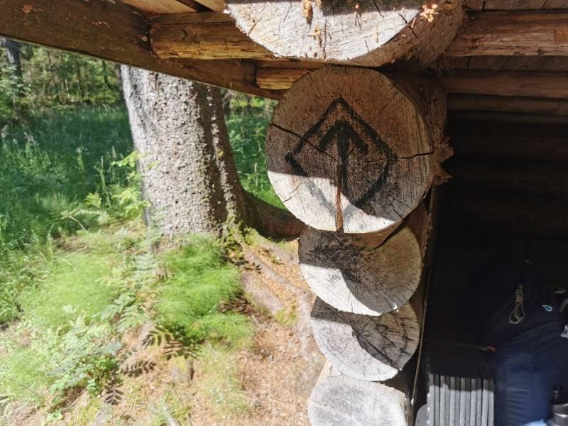 Shelter on the Brattforsleden trail, Sweden