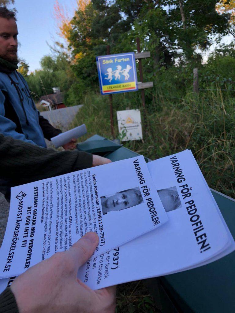 NRM anti-paedophile leaflets