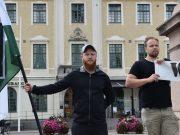 Nordic Resistance Movement White Lives Matter activity in Eksjö, Sweden