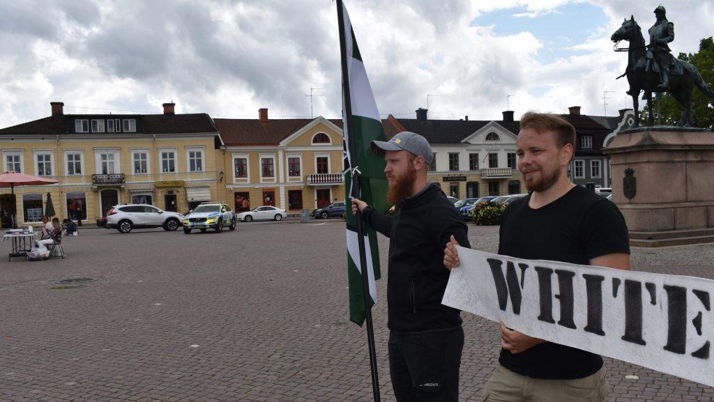NRM White Lives Matter activity in Eksjö, Sweden