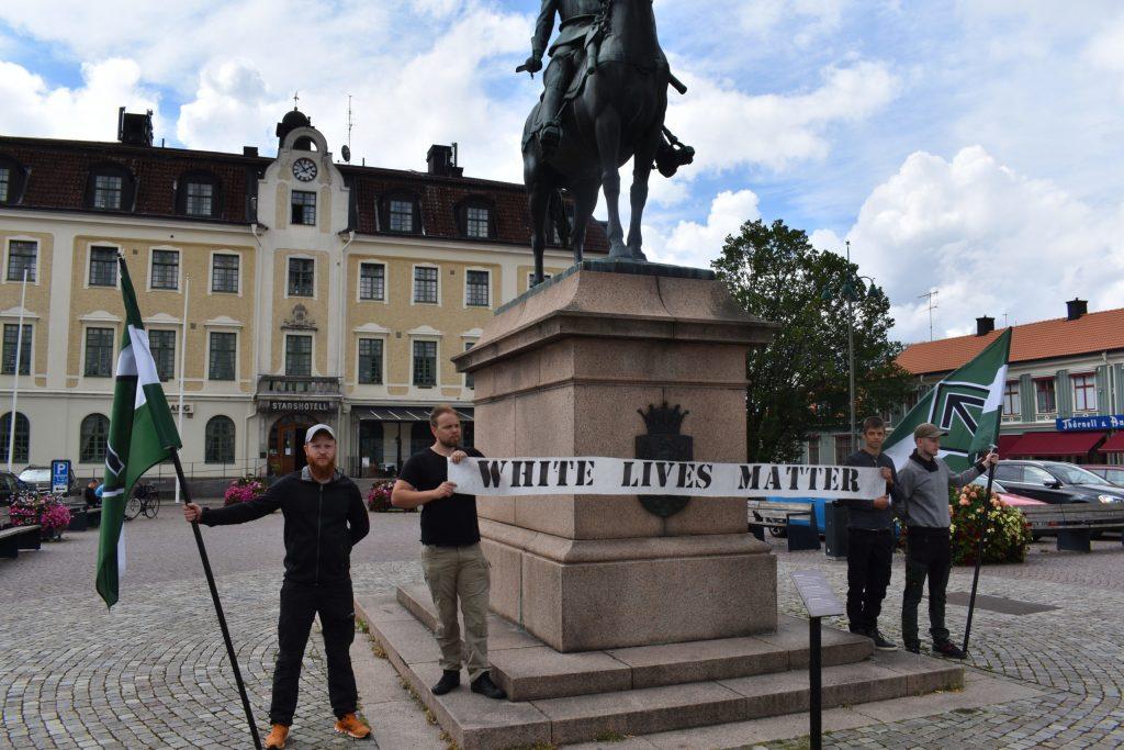 White Lives Matter activity in Eksjö, Sweden