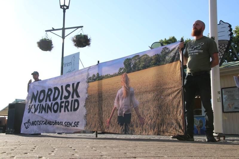 Nordic Resistance Movement banner activity in Strömstad