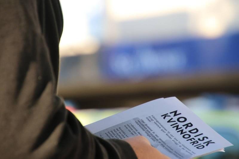 Nordic Resistance Movement leafleting in Strömstad