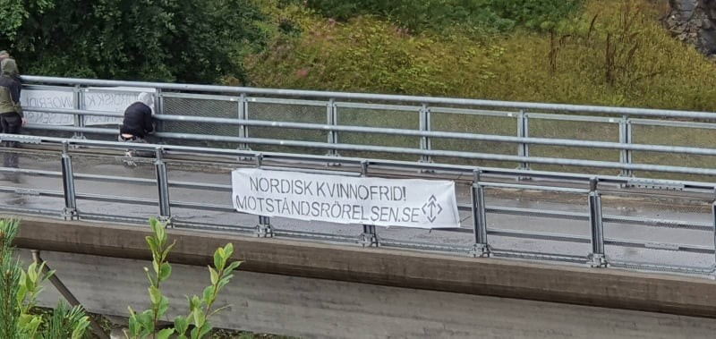 """""""Peace for Nordic women"""" banner action"""