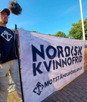 """NRM """"Peace for Nordic women"""" banner action"""
