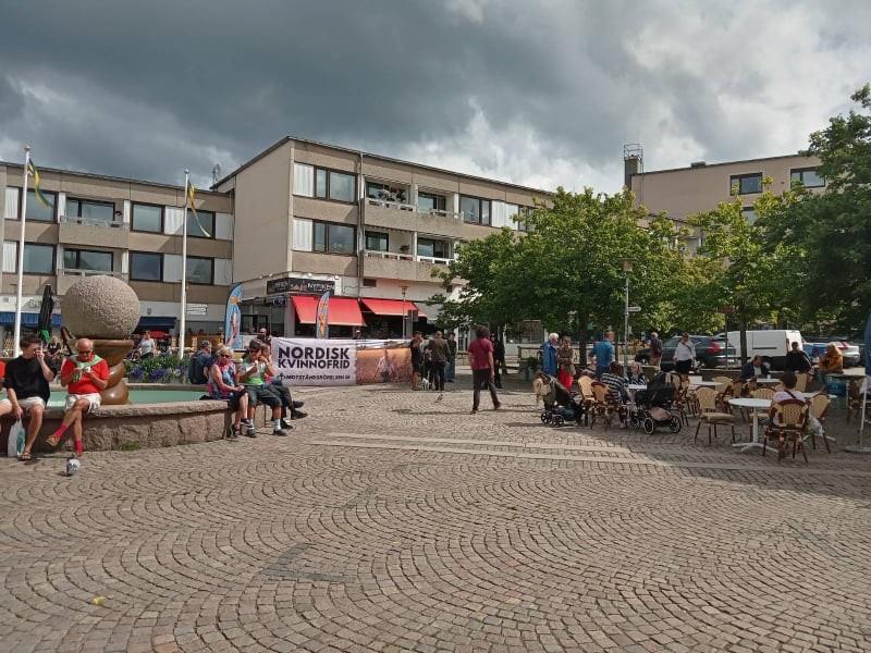 "NRM ""Peace for Nordic Women"" public activity, Lysekil, Sweden"