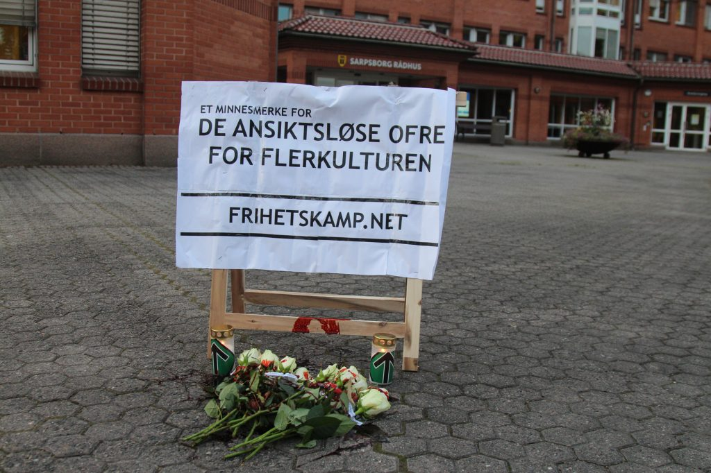 White Lives Matter memorial, Sarpsborg, Norway