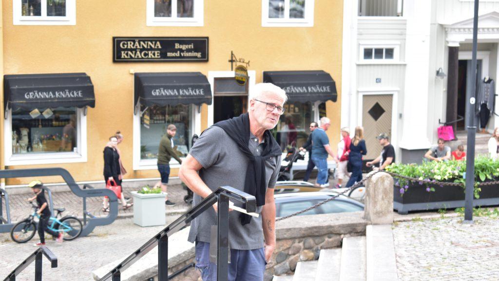 Social Democrat at NRM public activity, Jönköping