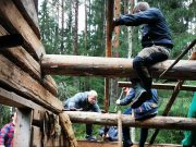 Restoration of an old barn in the Jämtland woods