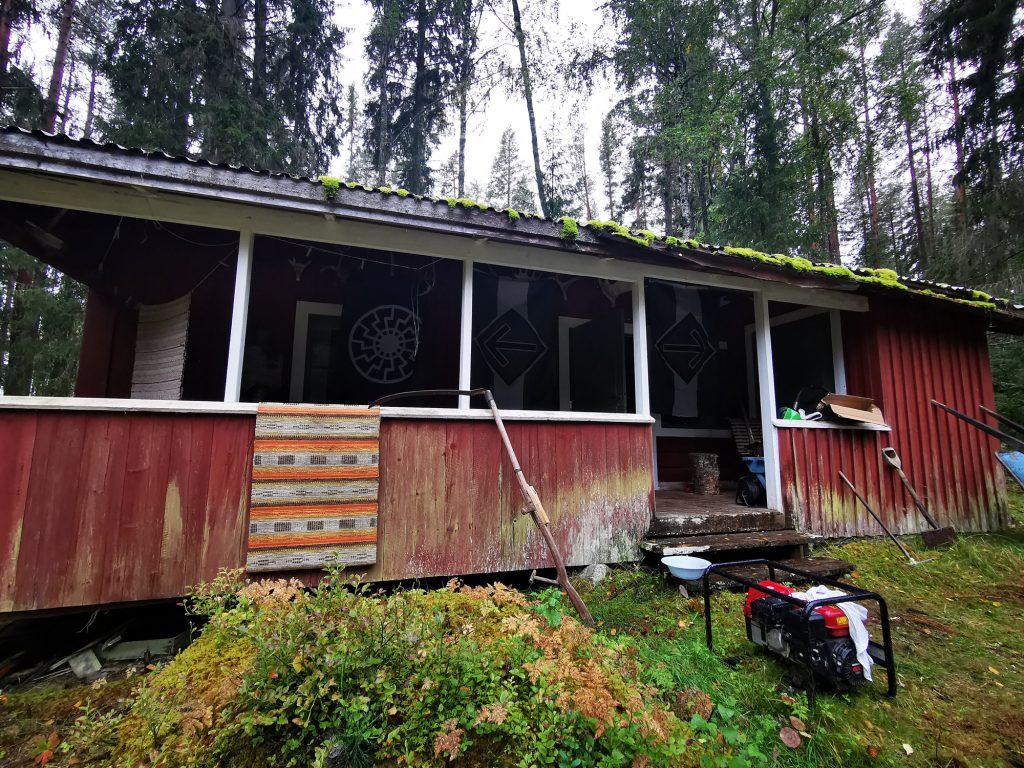 A cabin in the Jämtland woods, Sweden