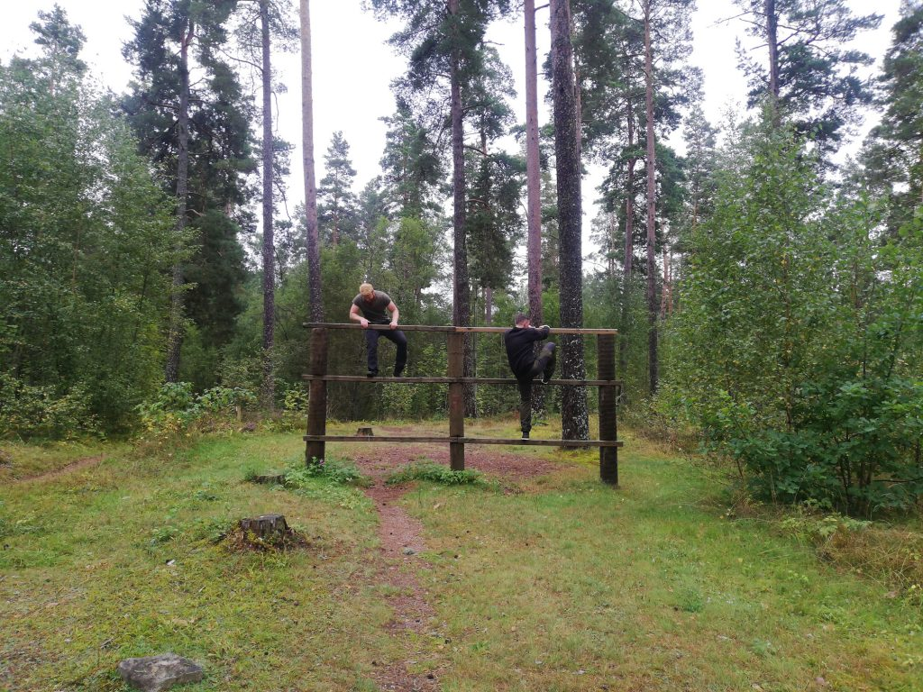 Nest 7 physical training obstacle course
