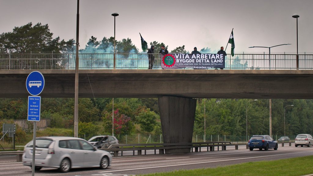 NRM banner action, Stockholm