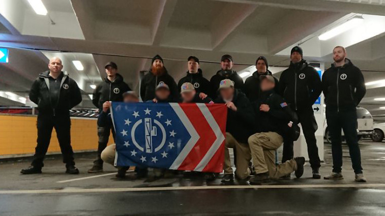 Patriot Front and Nordic Resistance Movement activists