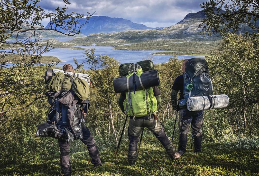 Sarek hiking, Sweden
