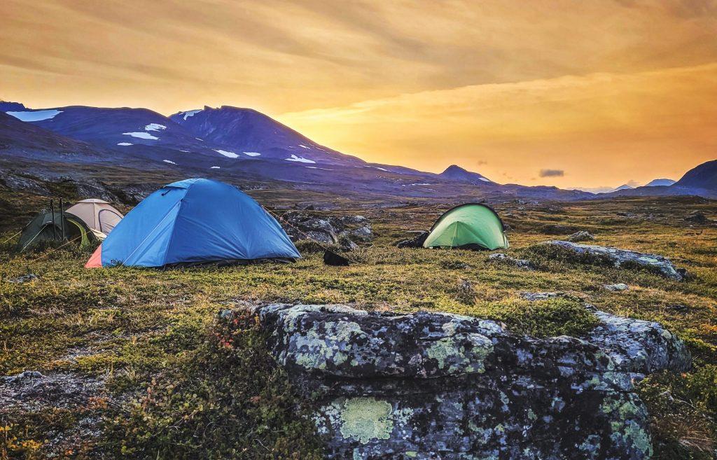 Sarektjåhkkå camping, Lapland