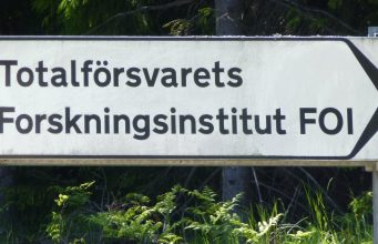 Swedish Defence Research Agency (FOI) sign