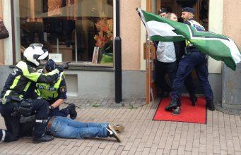 Police attack NRM activity in Kalmar, Sweden