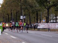 Nordic Resistance Movement at Stockholm Marathon